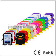 3D Cute Penguin protective silicone case for ipad mini