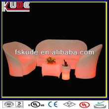LED light plastic design sofa set new model designs 2013