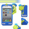 Silicon back cover blue case for iphone 4