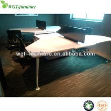 Hot Sell White Melamine Modern Office Staff Desk