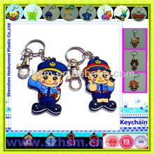 Police partner promotional keychain