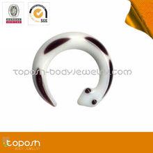 Wholesale white dragon pyrex glass ear stretcher body jewelry