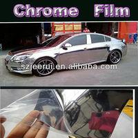 High Quality Mirror Silver Chrome Foil Vinyl Film With Air Bubble Wrap