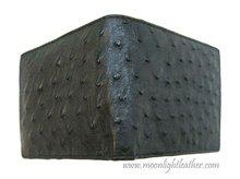 100% Genuine Ostrich Leather Men's Bifold Wallet