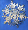 Christmas Snowflake Ornaments Metal Cut Out Tags Engraved Star