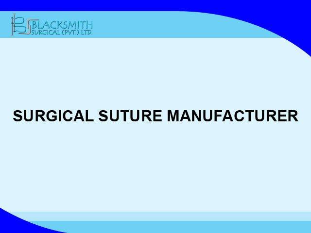 Sutura quirúrgica fabricante