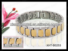 fashion metal germanium, magnet and far-infrared energy stainless steel/titanium bracelets &bangles