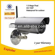 CCTV Outdoor Waterproof 1.0MP 720P HD P2P IP Camera Wireless/SD Card Storage