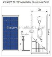 2013 High efficiency Hot Sale High Efficiency 230W, Polycrystalline pv solar module