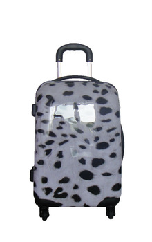 luggage & travel bags 2013 Hot selling fashion ABS+PC film printing trolley luggage bag