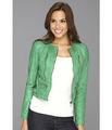 Ucuz yeşil fermuarlı motosiklet ceket