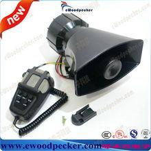 Ewoodpecker 12 v voiture motorcyclef corne alarme de voiture haut - parleur 80 w haut - parleur sirène d'alarme mégaphone
