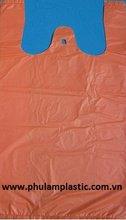 HDPE T-shirt plastic bag 24+12x50cm, 18mic