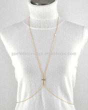 Gold Tone / Clear Rhinestone / Lead&nickel Compliant / Cross / Body Chain