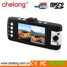 2 Mega pixels CMOS cam double lens car g-sensor night vision dual cam car