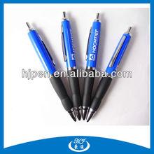 Click Sky-Blue Big Metal Ball Pens Rubber Grip Pens