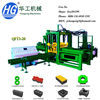 QFT3-20 Fully automatic concrete blocks making machinery factory, cement paving block machine manufacturer
