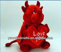 San valentín diablo con el corazón de la quilla suave peluche de juguete 32 cm