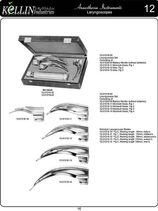 Laryngoscope Set Price Laryngoscope Set