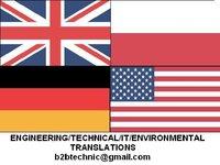 Engineering translations, English, German, Polish, certificate, 12 years experience
