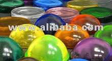 colored glass hemisphere - raw material