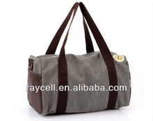 Fashion big volume leisure outdoors canvas tote shoulder bag for men wholesale in factory prices