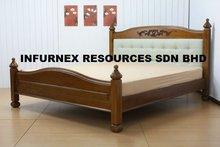 bed, bedroom set, home furniture, wooden bed