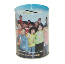coin tin can /money tin box /round coin tin box