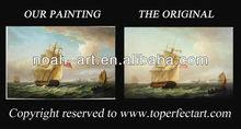 Popular oil painting sail boats from Xiamen Noah Art
