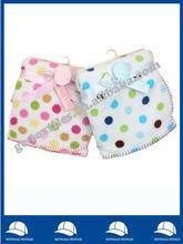 Cute colorful circles printed coral fleece throw/baby coral fleece throw