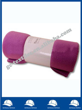 solid plain dyed purple overlocked brushed fleece blanket/all season rolled packing throw/gift throw