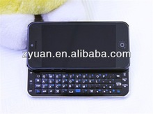 For iPhone5 ultra-flat sliding bluetooth keyboard case with stand