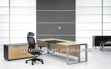 High Tech Solid Metal Frame Formal Office Executive Desk