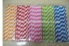 Super quality promotional antique straws paper party