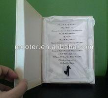 Engraved Black Wording Cheap Glass Wedding Invitations For Musilim Or Arabic Wedding,Cheap Glass Wedding Invitations