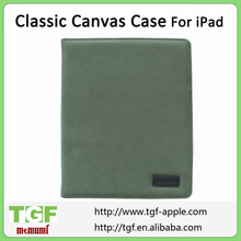 Classic Canvas Case For iPad Factory Price Green Color