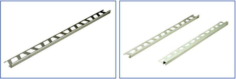 équilibre en aluminium de bord de carreau de céramique