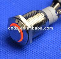 QN16-C2 16mm red led high head latching car push button switch DC 12V Angel Eye
