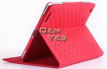 Diamond Quilted Design PU Leather Flip Case For iPad 4 iPad 3