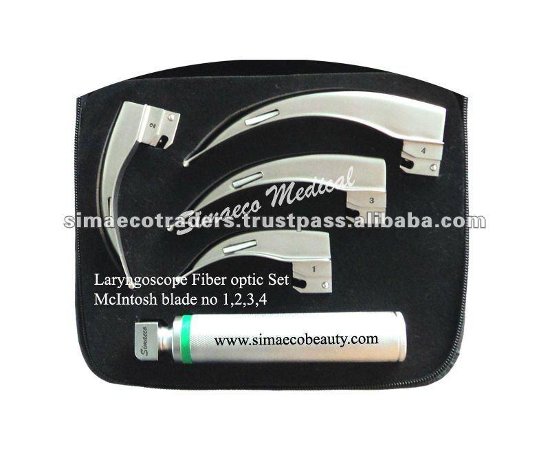 Laryngoscope Set Price Mcintosh Laryngoscope Fiber Optic Set of 4 Blades View Price of