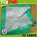 Prata polietileno verde lona / PE lonas tecido / Canvas / folha / Roll para caminhão e barco