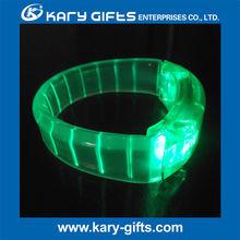 sound sensor party gifts flashing LED lighted wristband