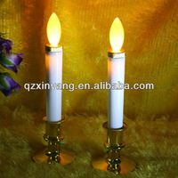 White Base and Yellow Flickering Candle Holder Tea Lights Insert