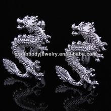Good luck in dragon dragon Men's shirt cufflinks Cuff button cuff nails