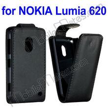 High Quality for Nokia Lumia 620 Case, Black Wallet Leather Flip Case for Nokia Lumia 620