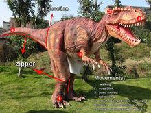 High simulation animatronic adult walking dinosaure costume for amusement park