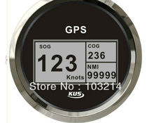 85mm black/white faceplate digital GPS speedometer CCSB with mating antenna