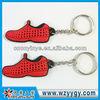 Mini Shoe Soft Pvc Key Chain With Ring