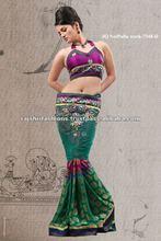 Patch Work Pallu designs Net sarees