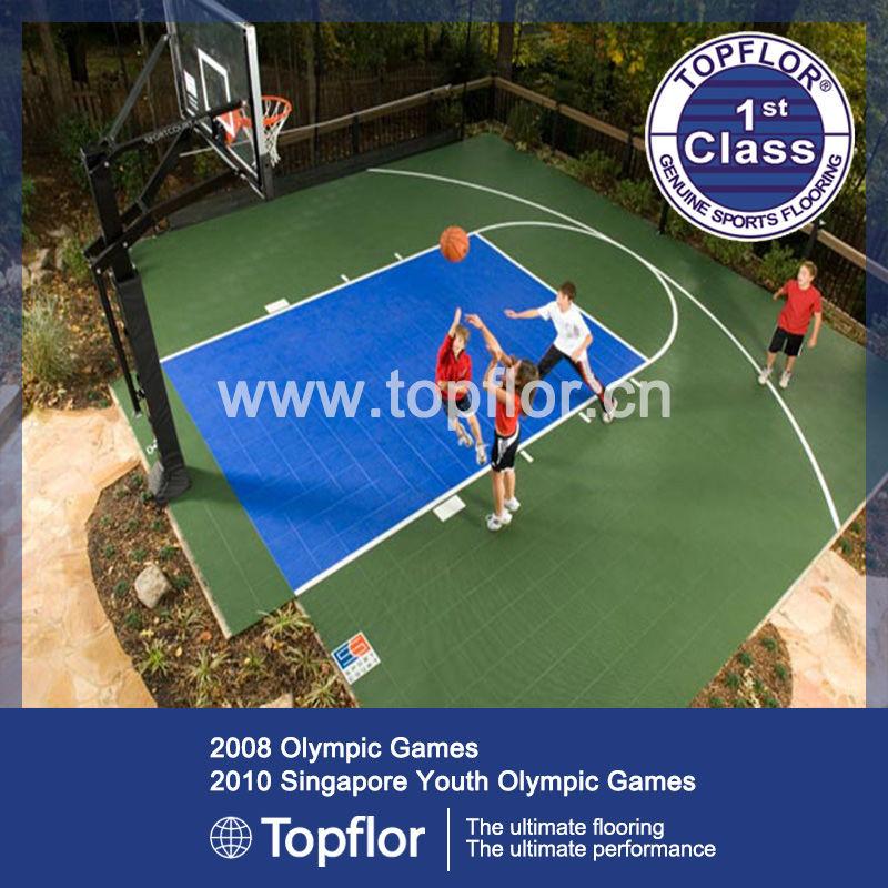 Polyurethane WPC basketball flooring Plastic Flooring